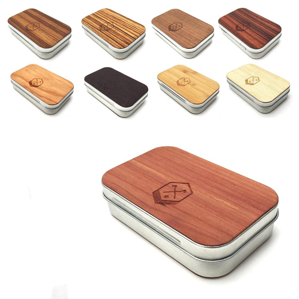 Image of TIMBER Wood Skin Tin Box