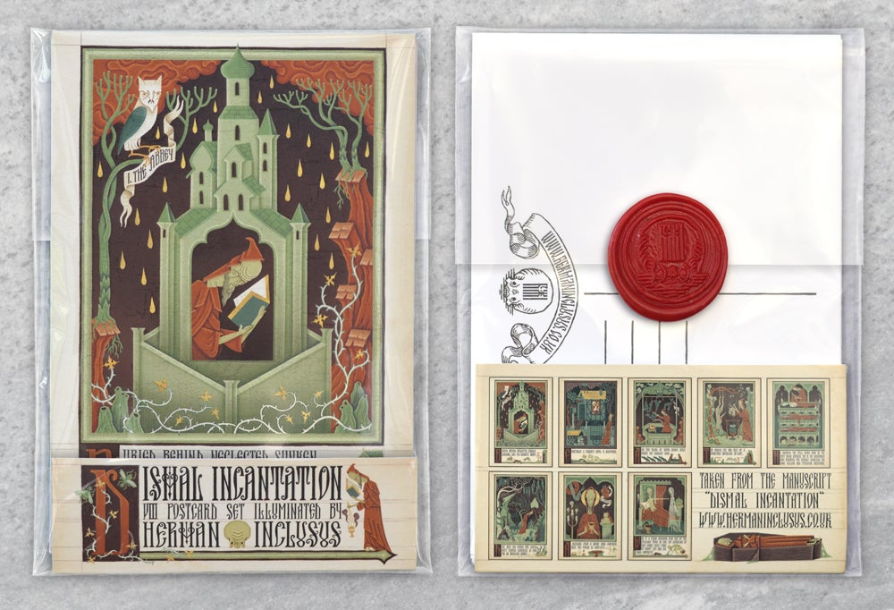 "Image of ""Dismal Incantation VIII Postcard Set"""