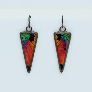 Image of Hart-Variations Isosceles Sunset Moth Earrings