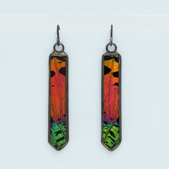 Image of Hart-Variations Dagger Sunset Moth Earrings