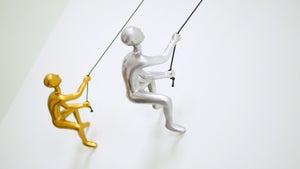 Image of CLIMBING MAN - SILVER AND GOLD SERIES OF  2