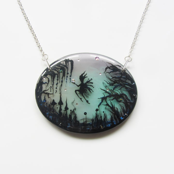 Image of Fairy Lagoon Large Oval Resin Pendant