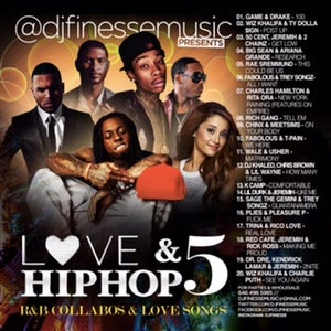 Image of LOVE & HIP HOP MIX VOL. 5 (HIP-HOP/R&B COLLABOS)