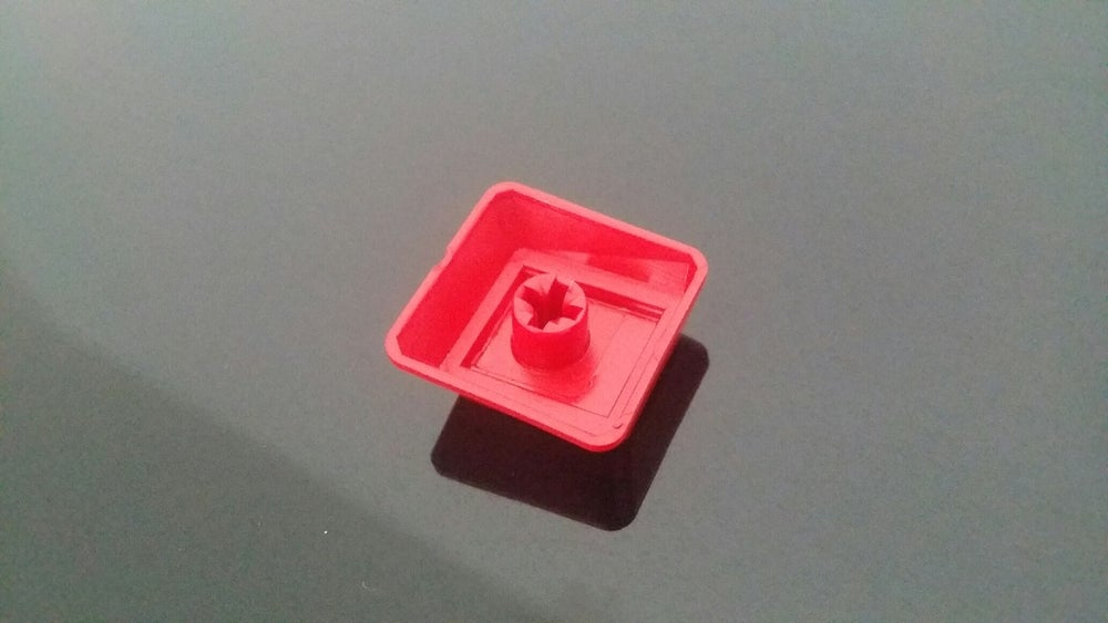 Image of Red Blank WASD Keycap Set