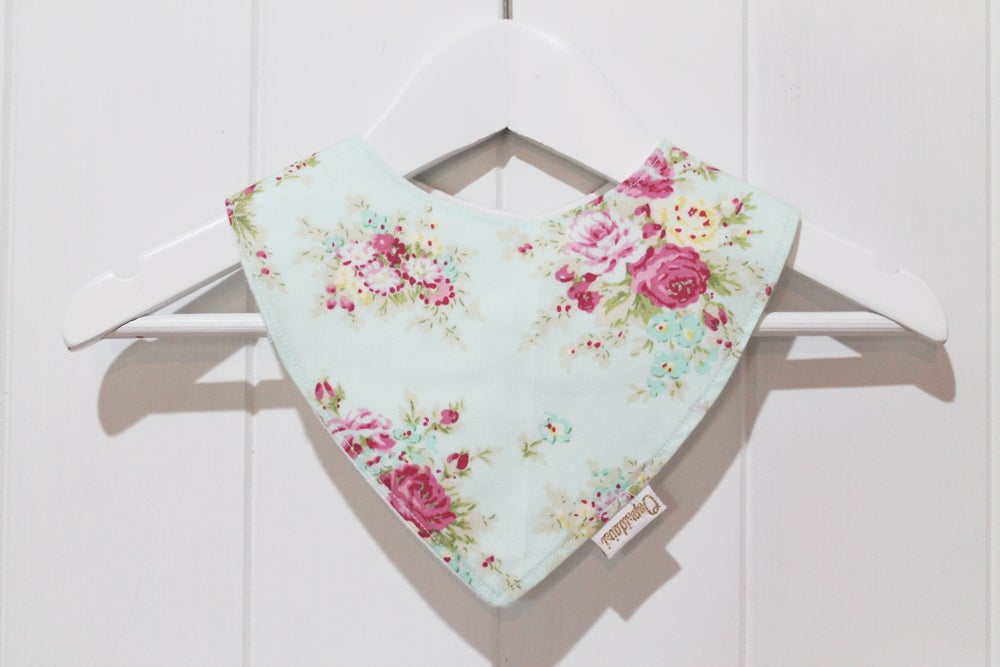 Image of Bandana Bib - Peppermint Rose
