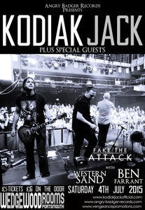 Image of FAKE THE ATTACK w/ KODIAK JACK @ WEDGEWOOD ROOMS, PORTSMOUTH - JULY 4TH 2015 TICKETS