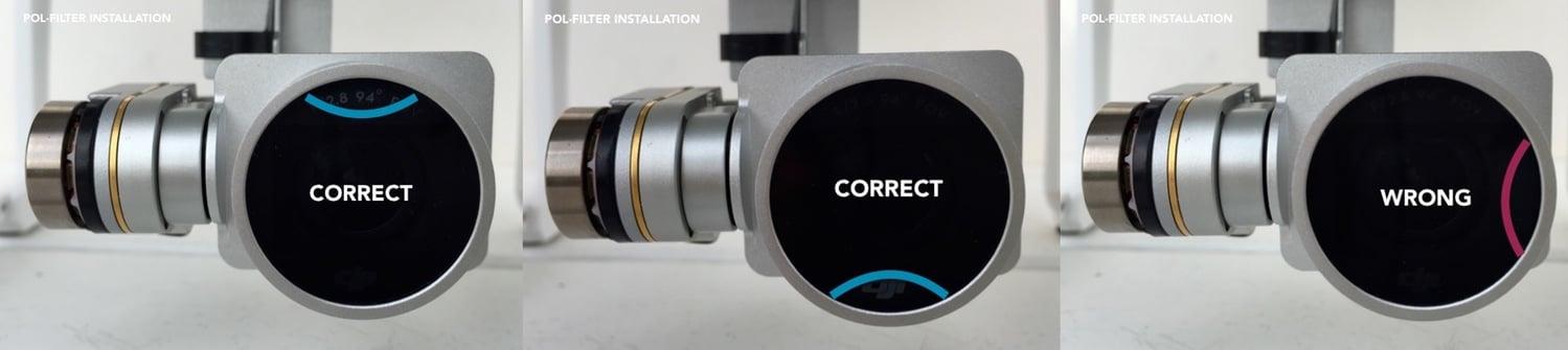 Image of 1 POL (Polarizer) Filter for DJI Phantom 3 & 4 Professional / Advanced