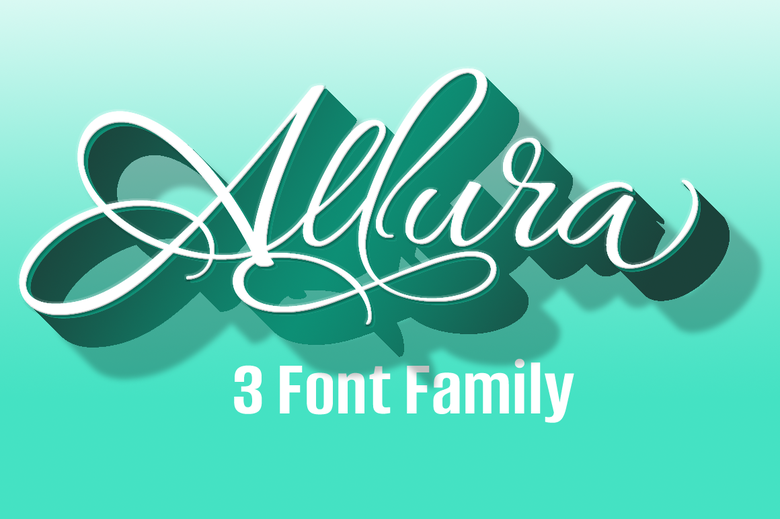 Image of Allura 3 Font Package