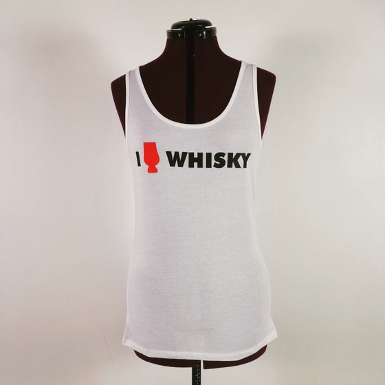Image of I Heart Whisky - Ladies White Vest Top