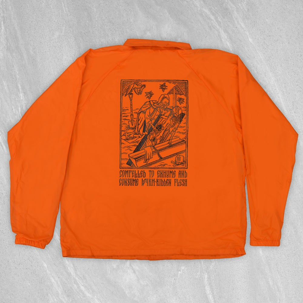 """Image of """"Compelled to Exhume & Consume"""" Convict Coach Jacket"""