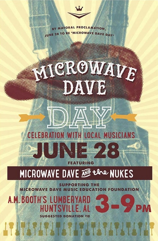 Image of Inaugural Microwave Dave Day Commemorative Poster UNSIGNED (+$7 shipping)
