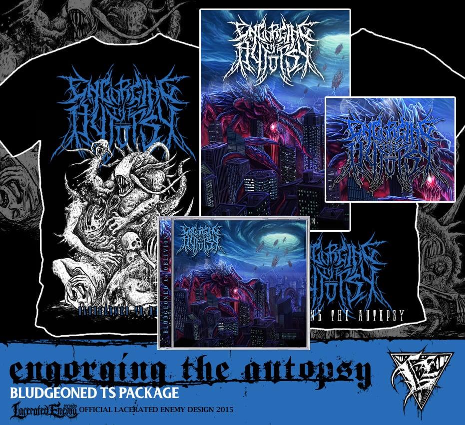 ENGORGING THE AUTOPSY - black Shirt CD package