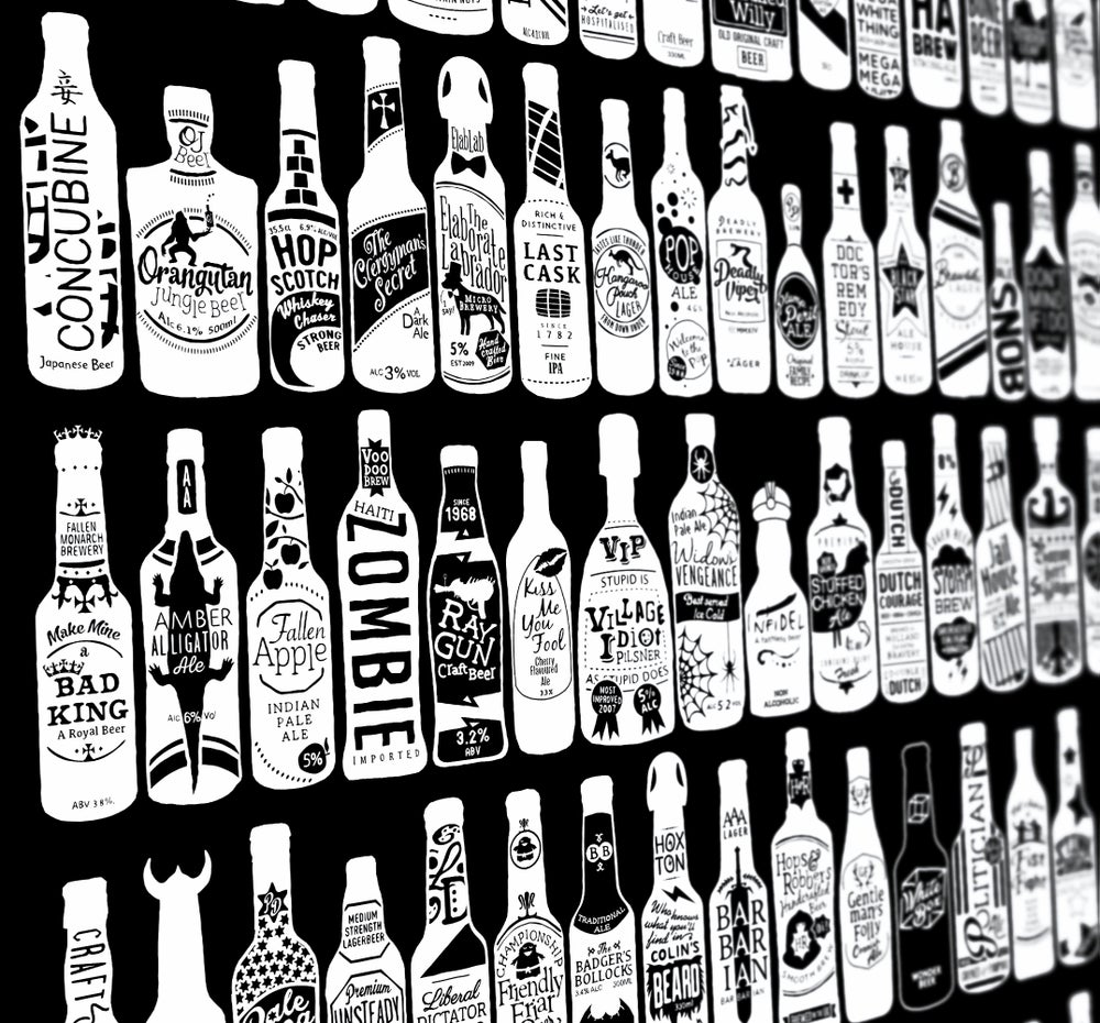 Image of 99 Bottles (Black, 2013)