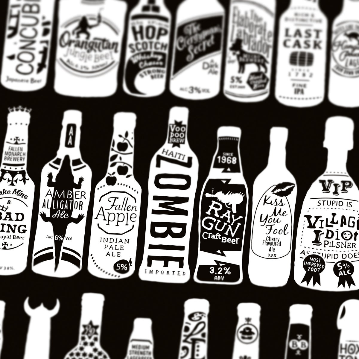 Image of 99 Bottles (Black)