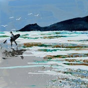 Image of Morning Surf, Crantock Beach, Newquay, Cornwall