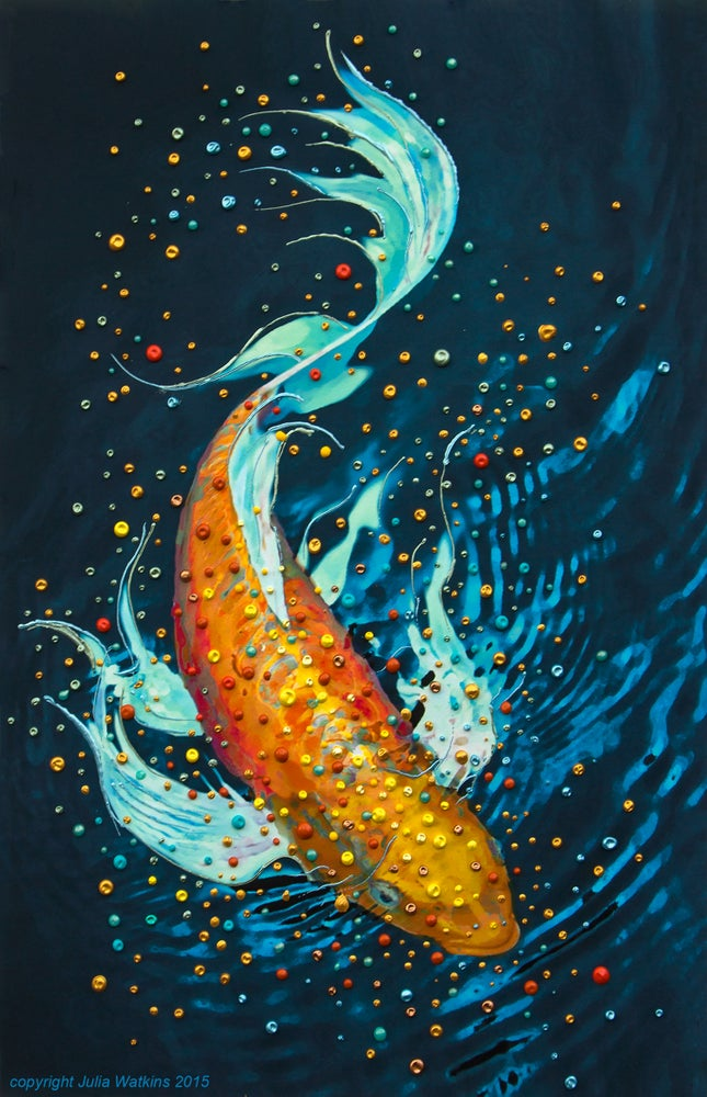 Image of The Money Fish Wealth And Abundance Painting - Giclee Print