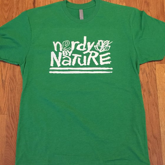 Image of gents nerdy by nature. - graphic tee