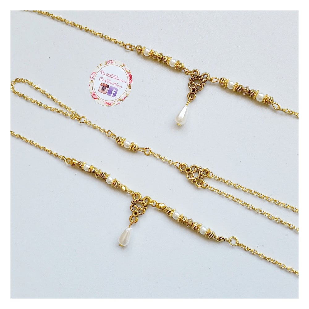 Image of Hannah Head Piece, Hand Chain and Anklet Set