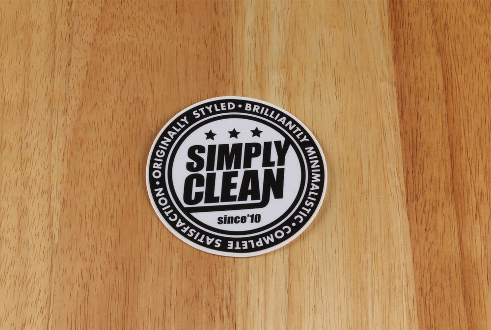 Image of Simply Clean Radical Logo Sticker