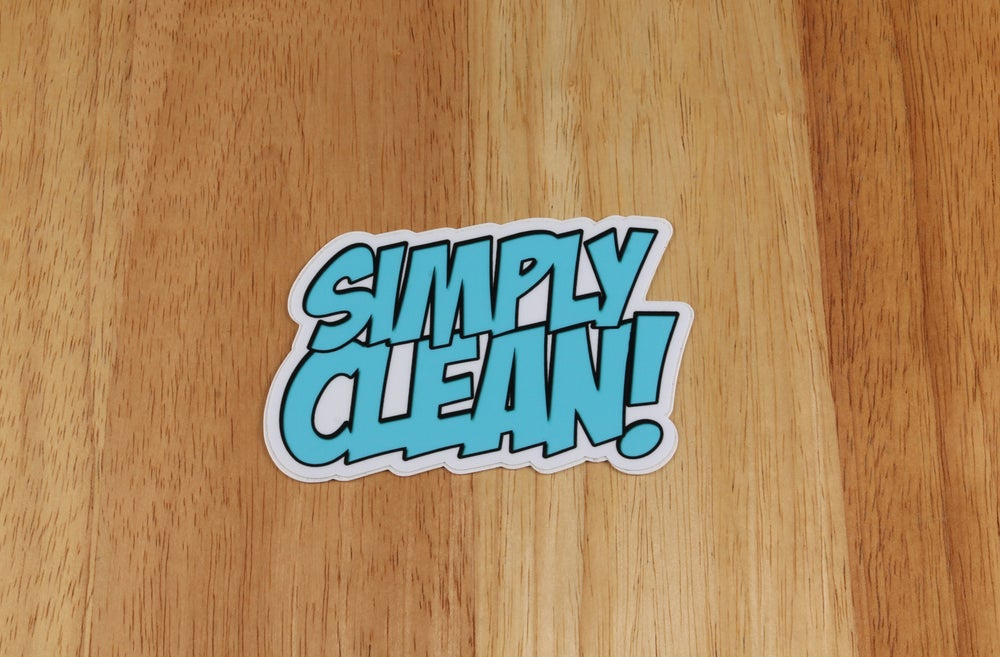 Image of Simply Clean Comic Sticker