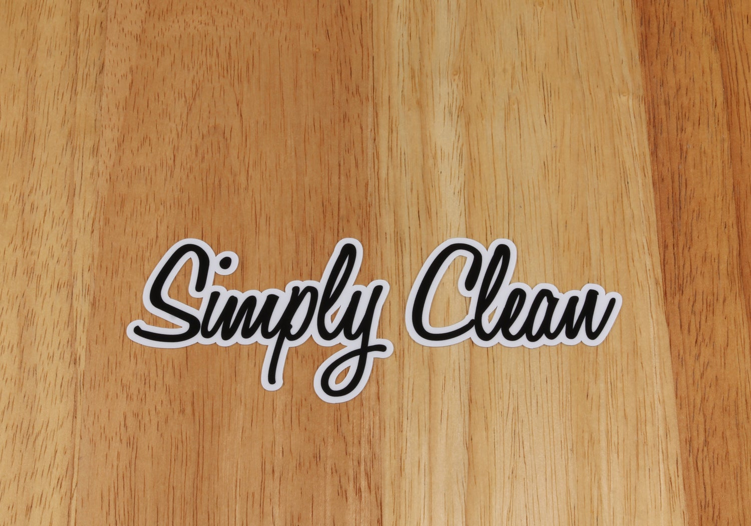 Image of Simply Clean Logo Sticker