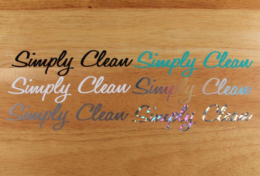 Image of Simply Clean Die Cut Logo Sticker