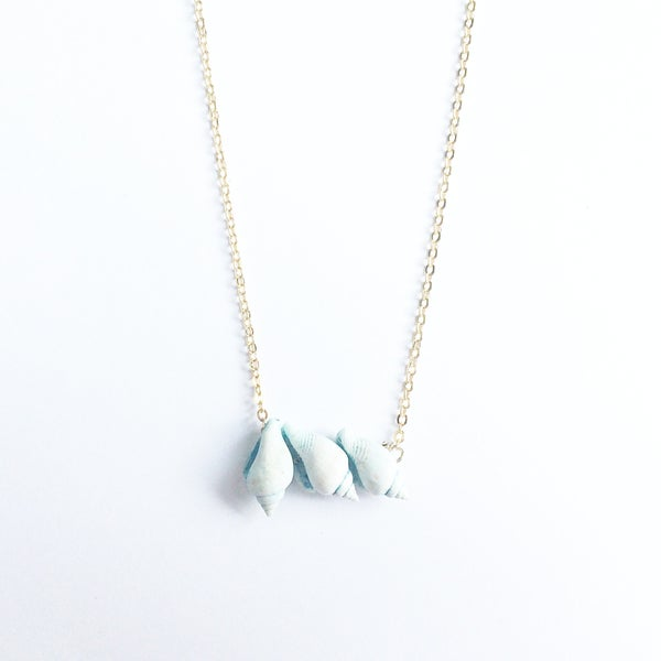 Image of Little Shell Trio Necklace SOLD OUT