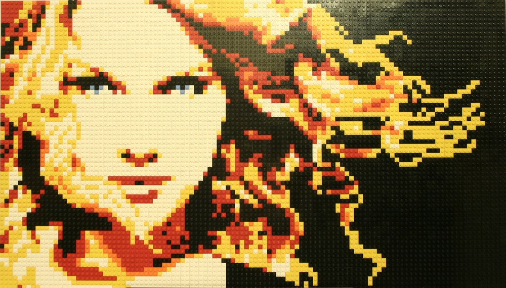"Image of Custom LEGO Mosaic - Taylor Swift, 35"" x 20"""