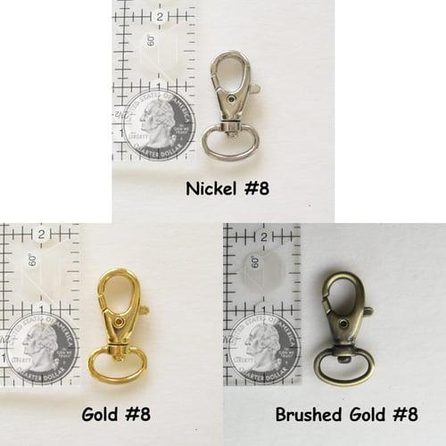 "Image of Nylon Webbing Petite Strap - Adjustable - 0.5"" (half-inch) Wide - Choice of Color, Length & Hook #8"