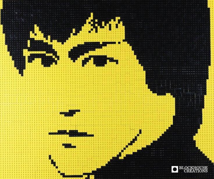 """Image of Custom LEGO Mosaic - Bruce Lee, 30""""x25"""""""