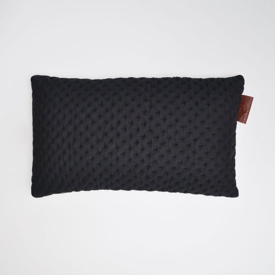 Image of Kumo cushion Cover - Black Lumbar
