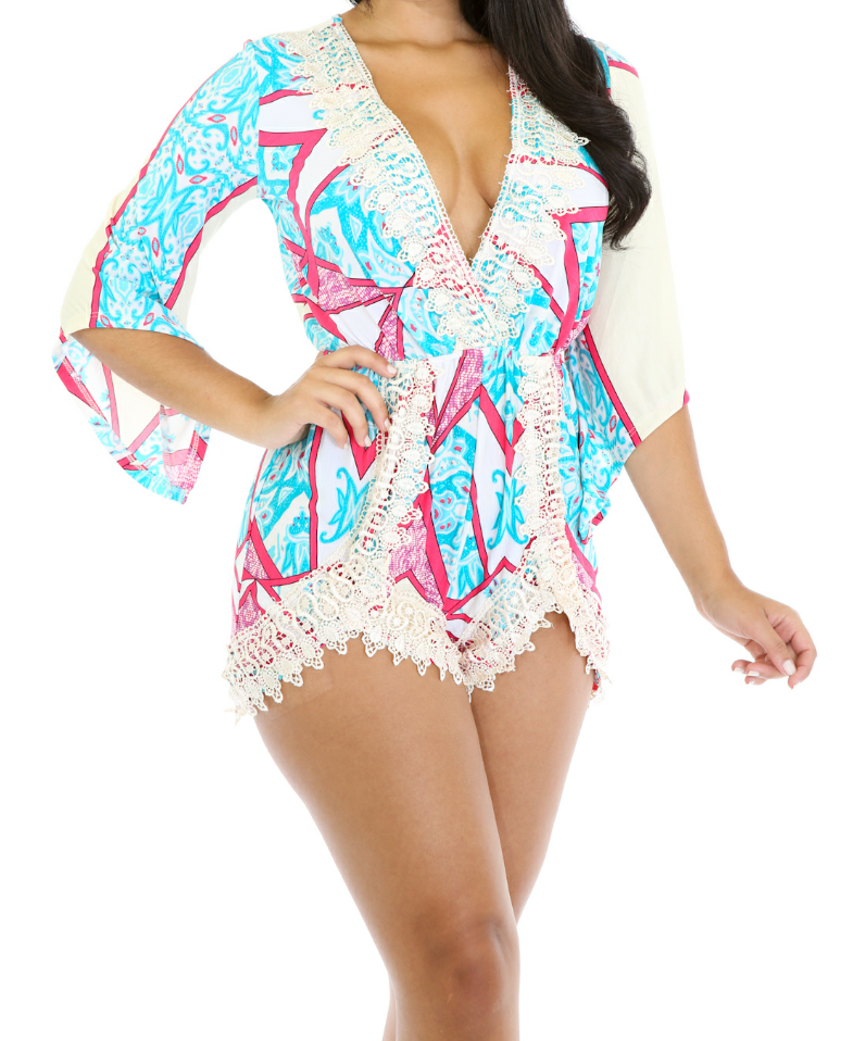 Image of Lady Lace Romper