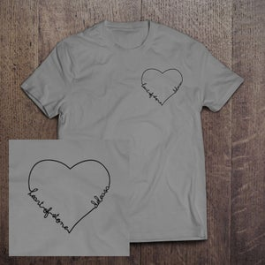 """Image of """"Pre-order""""Heart of stone heather grey tee"""