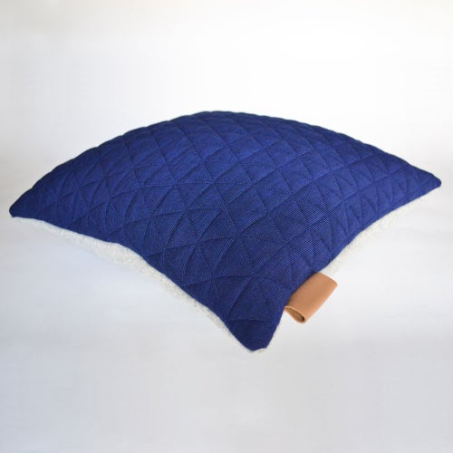 Image of Kumo Cushion Cover - Sapphire Blue Square