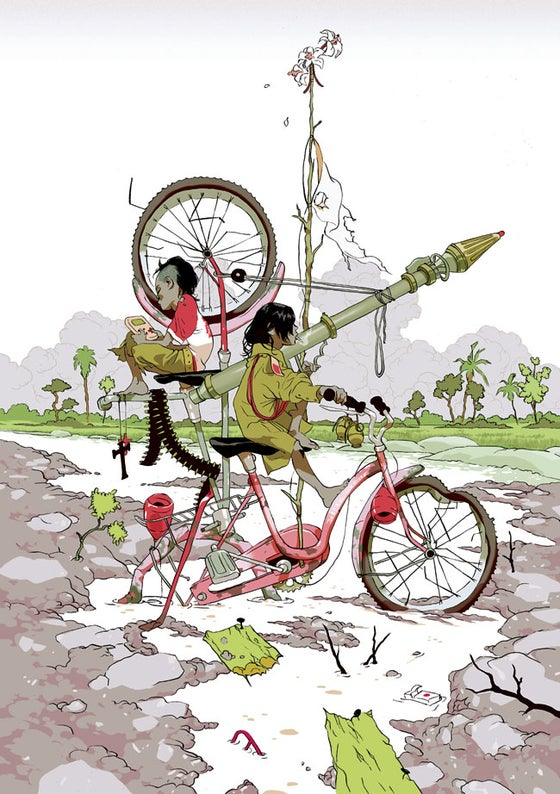 Image of Tomer Hanuka's Wind Riders' (Gallery Edition)