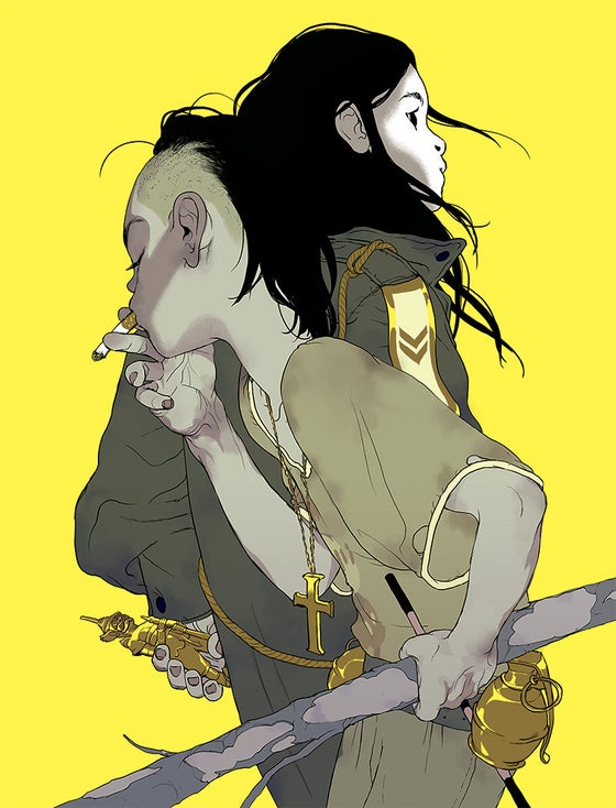 Image of Tomer Hanuka's 'The Divine' (Yellow Version)
