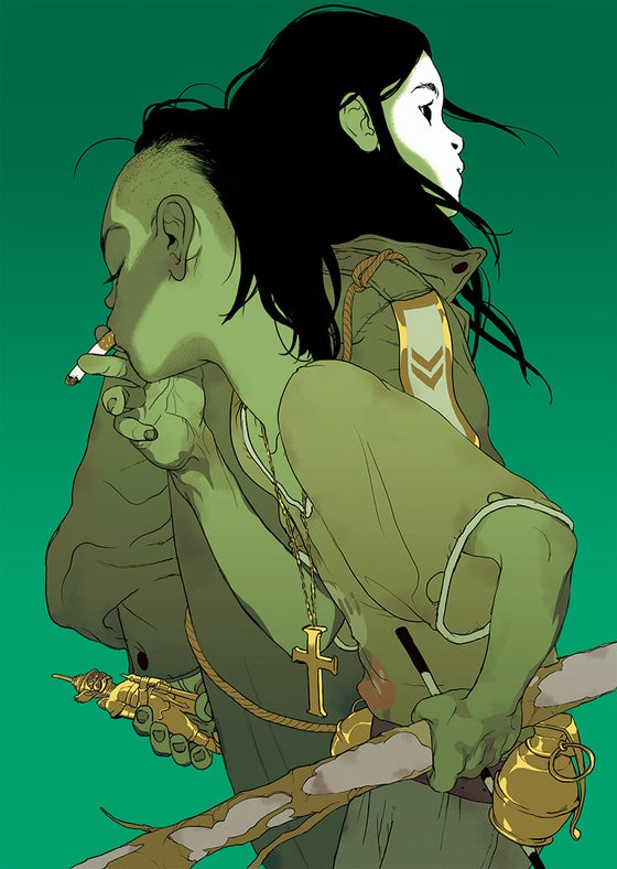 Image of Tomer Hanuka's 'The Divine' (Green Version)