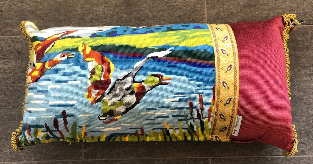Image of Flying Ducks Tapestry Cushion