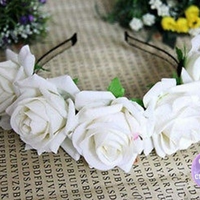 Image of Angelic White Floral Garland