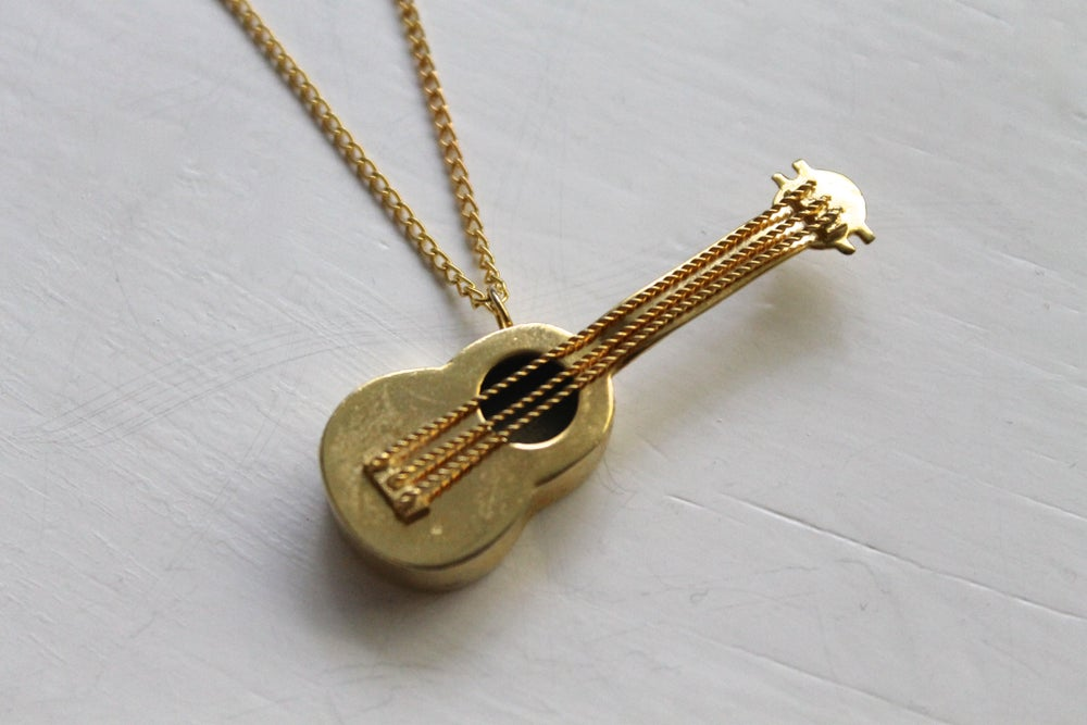 Image of Vintage Intricate Guitar Necklace (ORIGINALLY $74)