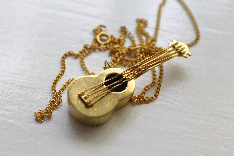 Image of Vintage Intricate Guitar Necklace (ORIGINALLY $74)
