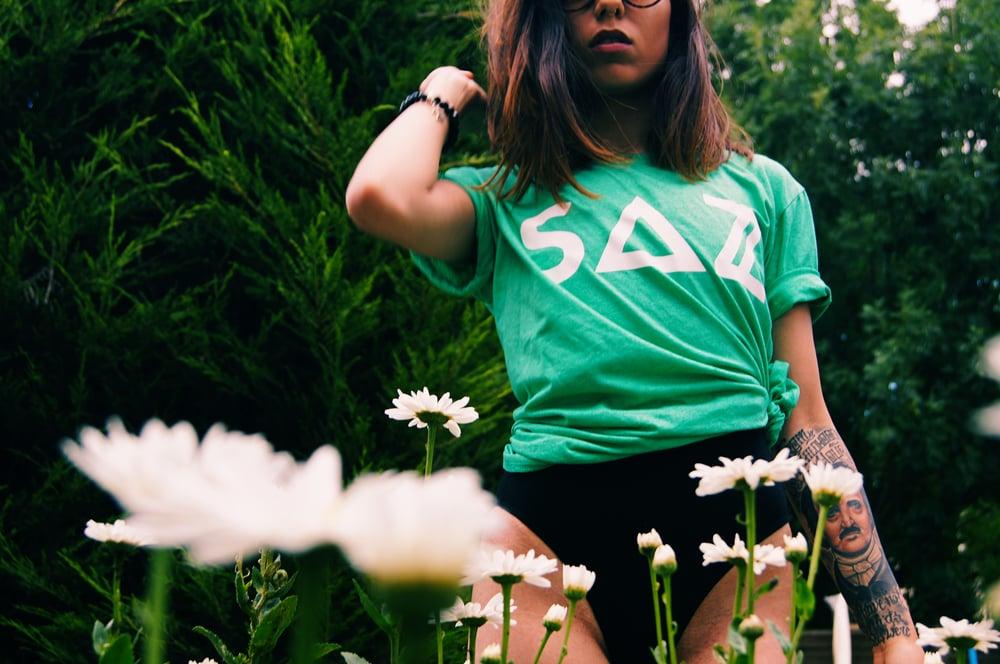 Image of SAZ HEATHER GREEN T-SHIRT