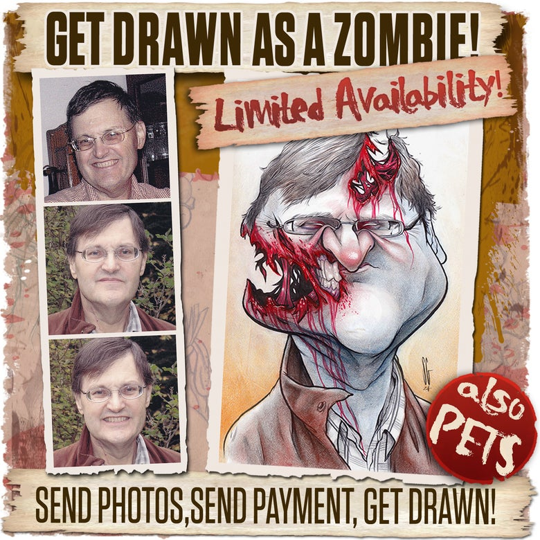 Image of Get Drawn as Zombie!!