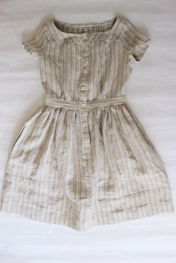 Image of Striped Linen Seaside Dress