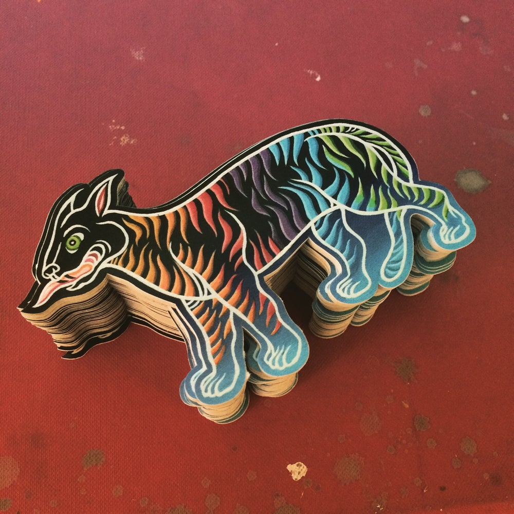 "Image of ""high of the tiger"" sticker"