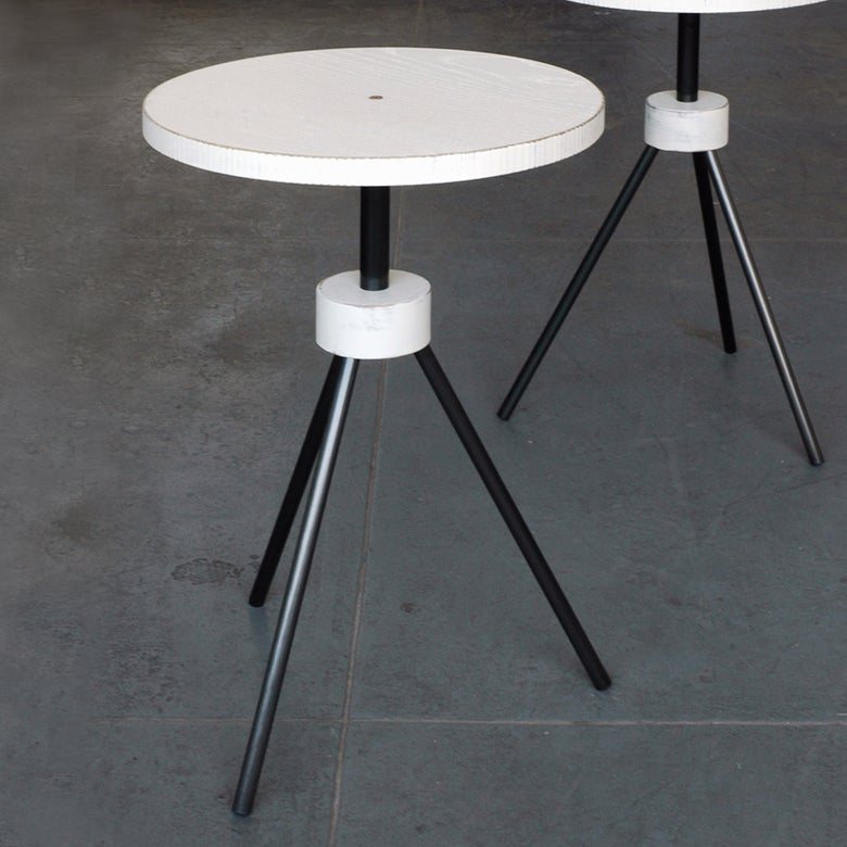 Image of tripod side table pair  #0046 #0047