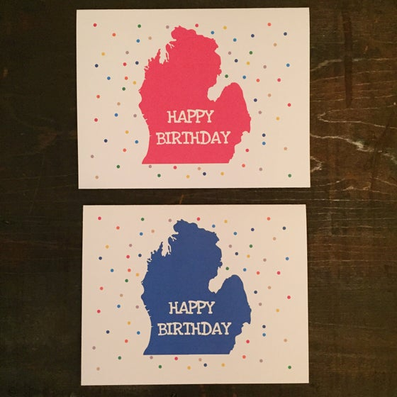 Image of Michigan Birthday Confetti