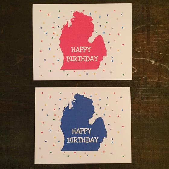 Image of Michigan Birthday Confetti