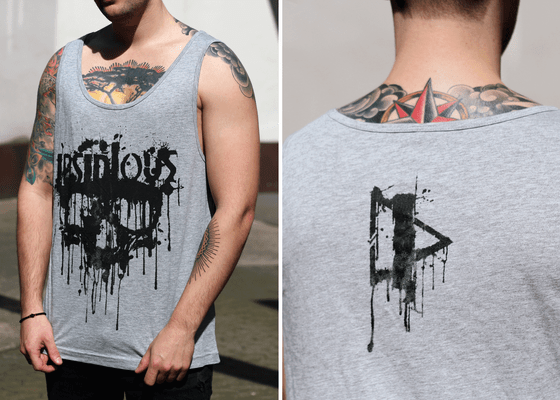 Image of INSIDIOUS TANK / GREY / DEAD INK