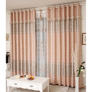 Image of Elegant curtains in different patterns show different styles